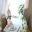 Lady Ribbon Dress เดรสแขนสั้น แต่งลายพิมพ์ดอกไม้สีเขียว thumbnail 4