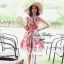 Lady Ribbon Rosalyn Dress เดรสลายดอกไม้ พร้อมริบบิ้นผูกเอว thumbnail 1