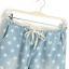 กางเกงขายาว ผ้าฝ้ายสีฟ้า พิมพ์ลายดาว เชือกผูกโบว์ที่เอว thumbnail 3