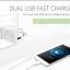 ที่ชาร์จไฟ USB 2 พอร์ต 2.1A+1A สำหรับ Tablet, iPad 4 ยี่ห้อ GOLF รุ่น GF-U206 (US Plug) thumbnail 2