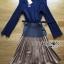 Lady Ribbon Pleated Dress เดรสผ้าจับพลีต thumbnail 10