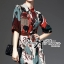 Lady Ribbon Creative Painting Colourful Shirt Dress thumbnail 1