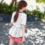 White Lace Blouse เสื้อผ้าลูกไม้สีขาว เอวยางยืด thumbnail 7