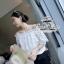 Odee Cutie Classy Lace Blouse เสื้อลูกไม้ทรงcrop เกาะไหล่ สีขาว thumbnail 4