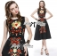 Lady Ribbon D&G Red Florals Embroidered Black Dress thumbnail 4