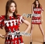 Lady Ribbon Lady Olive Playful Graphic Print Mini Dress thumbnail 5