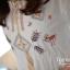 Ice Vanilla มินิเดรสผ้าคอตตอนสีขาว ปักลายน่ารัก ฟรุ้งฟริ้ง thumbnail 9