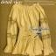 Lady Ribbon เสื้อแขนยาวเปิดไหล่ สีครีม-สีขาว thumbnail 11
