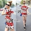 Lady Ribbon Lady Olive Playful Graphic Print Mini Dress thumbnail 3
