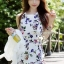 Seoul Secret Lovely Bloom Bloom Print Jumpsuit thumbnail 1