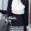 Lady Ribbon Black Graphic Skirt กระโปรงสีดำ ทอลายกราฟฟิก thumbnail 4