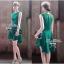 Lady Ribbon มินิเดรสแขนกุด สีเขียว ชายกระโปรงทรงเก๋ๆ thumbnail 9