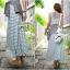Lady Ribbon Striped Maxi Dress เดรสยาวแขนกุด ลายทางทรงบอดี้คอน thumbnail 4