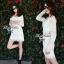 Lady Ribbon Lace Mini Dress มินิเดรสแขนยาว ดีเทลลูกไม้ทั้งตัว thumbnail 3