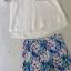 ชุดเซ็ทเสื้อกางเกง เสื้อซ้อนสองชั้นเล่นระดับ กางเกงลายดอกไม้ thumbnail 5