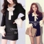 Classic Black & White Dress with Bow มินิเดรสแขนยาว แต่งโบว์ thumbnail 6