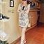 Lady Ribbon Embroidery Chiffon Dress เดรสปักลาย ผ้าชีฟอง thumbnail 3