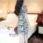 IceVanilla Striped Printed Dress เดรสผ้าพิมพ์ลายเส้นตารางขาวดำ thumbnail 5