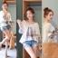 Lady Ribbon เสื้อปักครอสติสเกาหลี สม็อคคอเสื้อ ผูกโบว์ thumbnail 3