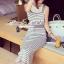 Seoul Secret Chic Stripy Bib Dress thumbnail 5
