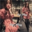 Lady Ribbon เดรสเชิ้ตแขนยาว กระโปรงพลีท ผ้าพิมพ์ลาย thumbnail 10