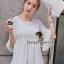 Seoul Secret เสื้อผ้าชีฟองเนื้อทราย สีขาว สีดำ แต่งเลื่อมสีเงิน thumbnail 6