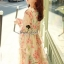 Seoul Secret Chiffon Pink Sakura Dress thumbnail 6