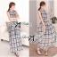 Lady Ribbon Maxi Dress เดรสยาว ผ้าพิมพ์ลายตาราง thumbnail 7