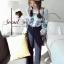 Seoul Secret เสื้อเนื้อผ้าไหมพรมเกาหลี ทอลายดอกไม้ thumbnail 9