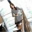 IceVanilla Fall Striped Stitch Lace Dress thumbnail 3