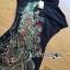 Lady Ribbon Dress เดรสคอเต่าปักลายนกยูง thumbnail 4