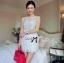 Lady Ribbon Flower Embroidered Chiffon Mini Dress thumbnail 2
