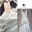 Lady Ribbon Sweet Lace Maxi Dress เดรสยาวผ้าลูกไม้สีครีม thumbnail 14