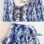 Lady Ribbon มินิเดรส ลายดอกไม้ ชายกระโปรงลูกไม้ thumbnail 6