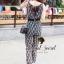 Seoul Secret จั๊มสูทกางเกงขายาว ทรงคอถ่วง แถมเข็มขัด thumbnail 7