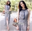 Lady Ribbon Paisley Chiffon Maxi Dress thumbnail 4