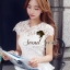 Seoul Secret เสื้อลูกไม้ทอลายดอกเดซี่เล็กๆ thumbnail 5
