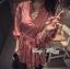 Lady Ribbon เดรสเชิ้ตแขนยาว กระโปรงพลีท ผ้าพิมพ์ลาย thumbnail 9