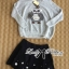 Lady Ribbon Owl Fur Sweater and Flower Embellished Skirt Set thumbnail 6