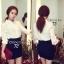 Cliona White Collar Embroidery Shirt เสื้อปกเชิ้ต ฉลุลายผ้า ปักลายดอกไม้ thumbnail 3