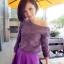 Lovely Purple Set ชุดเสื้อไหมพรม พร้อมกระโปรงสั้น ผ้ากำมะหยี่ สีม่วง thumbnail 1