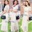 Lady Ribbon Lace Maxi Dress แม็กซี่เดรสแขนสั้น ผ้าลูกไม้ จั๊มเอว thumbnail 6