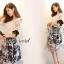 Seoul Secret ชุดเซ็ทเสื้อผ้าลูกไม้ กระโปรงผ้าแก้วทอลายดอก thumbnail 2
