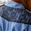 Sweet Blue Shirt เสื้อตัวยาว สีฟ้า ตัดต่อผ้าลูกไม้ช่วงหลังและกระโปรง thumbnail 8