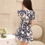 Icevanilla Delicate Flower Pearl and Diamond Print Dress thumbnail 4
