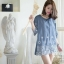 Shiny Jeans Embroidery Mini Dress thumbnail 3