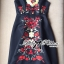 Lady Ribbon D&G Red Florals Embroidered Black Dress thumbnail 7