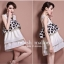 Marsh Mallow Polka Dot and Strip Dress thumbnail 9