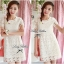 Lady Ribbon Sweet Honey Lace Dress เดรสผ้าลูกไม้ลายดอกสีขาว thumbnail 7