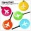 HAPPY FLIGHT Round Luggage Tag ป้ายห้อยกระเป๋าเดินทาง thumbnail 1